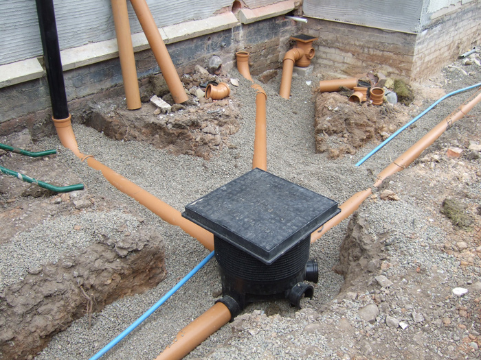 Extension Over Sewer Pipe French Drain Installation